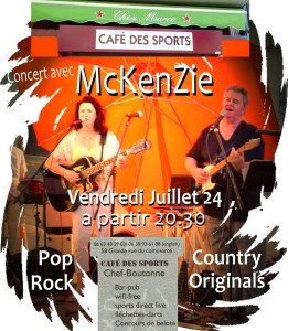 McKenZie Cafe des Sports July 24th 2015