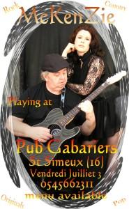 McKenZie Pub Gabariers July 3rd 2015