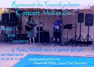 McKenZie, @ Des Canards, Aout 15