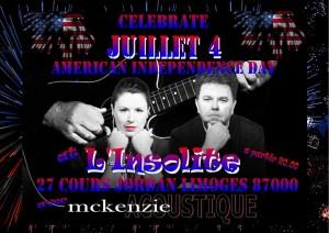 McKenZie L'Insolite July 4 2015